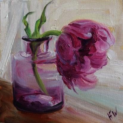 """Purple Tulip"" original fine art by H.F. Wallen"