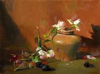 """Enchant in Subtlety"" original fine art by Qiang Huang"