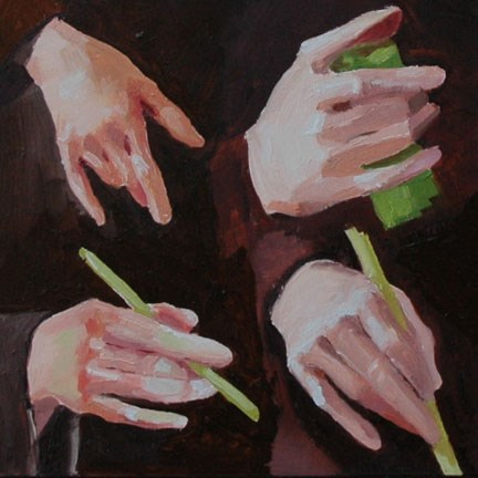 """HAND STUDY"" original fine art by Linda Popple"