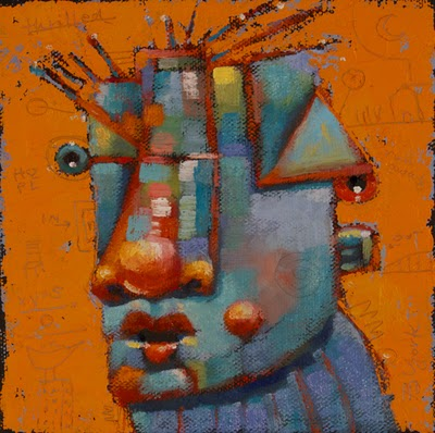 """Orange Gina"" original fine art by Brenda York"