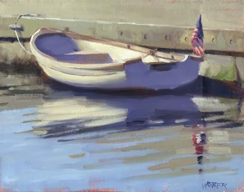 """A last hurrah"" original fine art by Kathy Weber"