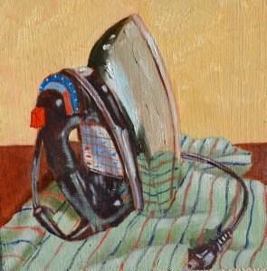 """Ironing Blues"" original fine art by Robert Frankis"