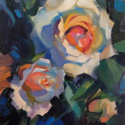 """""""Thorns and Velvet"""" original fine art by Jennifer Evenhus"""