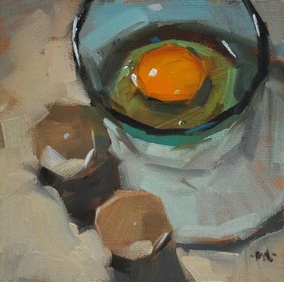 """All Yolked Up"" original fine art by Carol Marine"