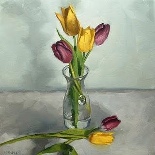 """Tulips"" original fine art by Michael Naples"