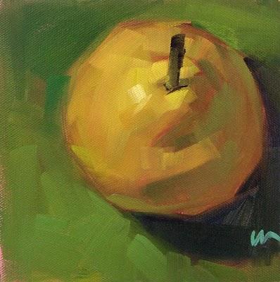 """Just a Pear 2 --- SOLD"" original fine art by Carol Marine"
