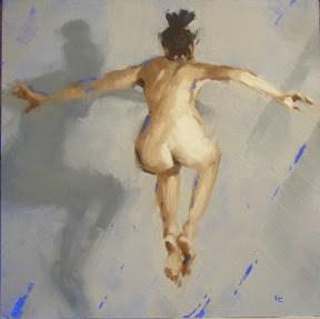 """""""JUMP!"""" original fine art by Helen Cooper"""