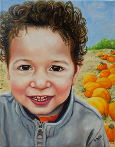 """""""Hayden"""" original fine art by Gretchen Matta"""