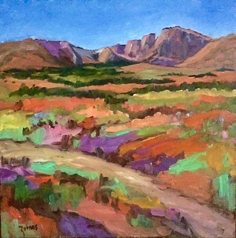 """Fall Colors at Long's Peak"" original fine art by Liz Zornes"