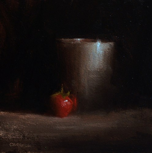 """""""Cup and Strawberry"""" original fine art by Neil Carroll"""