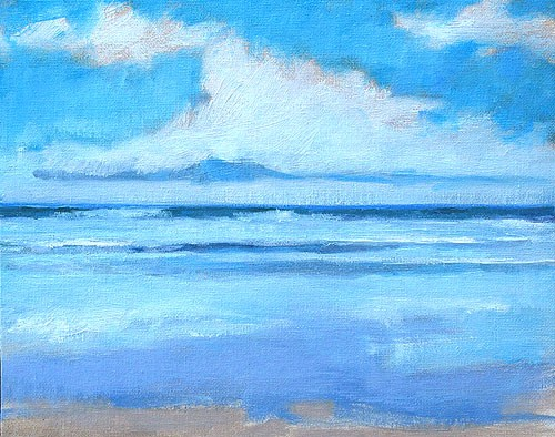 """Blacks Beach Painting 2"" original fine art by Kevin Inman"