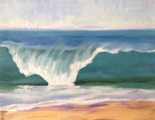"""Crashing Wave"" original fine art by Deborah Newman"