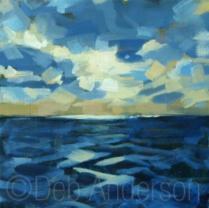 """""""Oil Painting: Sea and Sky"""" original fine art by Deb Anderson"""