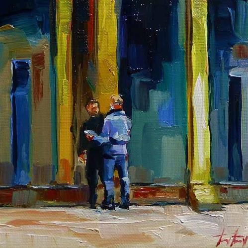 """""""Absprache"""" original fine art by Jurij Frey"""