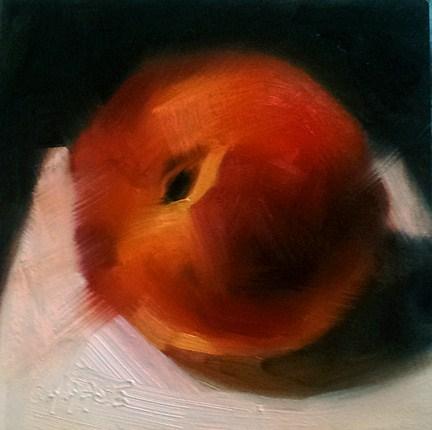 """Impressions of a Peach"" original fine art by Cindy Haase"