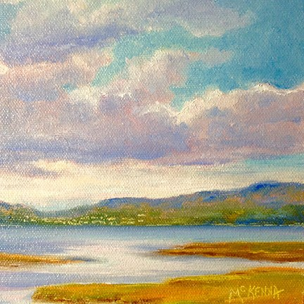 """River Foyle"" original fine art by Judith McKenna"