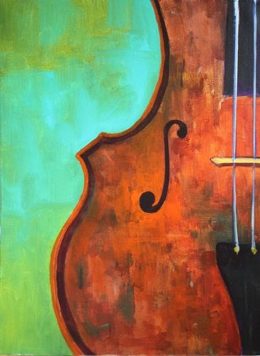"""""""Cello, Musical Instrument Paintings by Arizona Artist Amy Whitehouse"""" original fine art by Amy Whitehouse"""