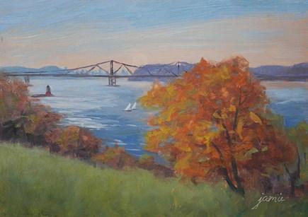 """Autumn at Rockwood"" original fine art by Jamie Williams Grossman"
