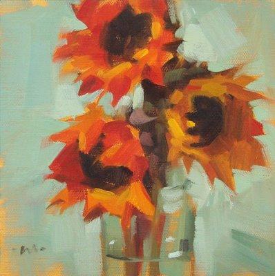 """""""Three High"""" original fine art by Carol Marine"""
