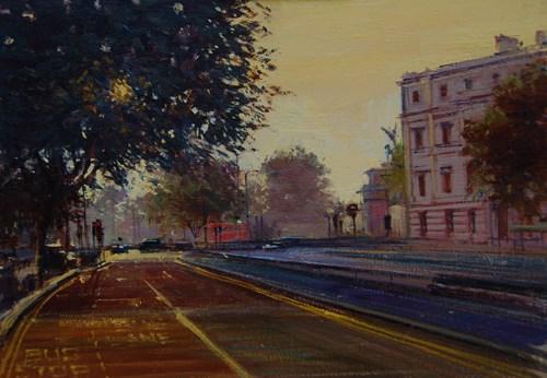 """Early Morning Light, Hyde Park"" original fine art by Adebanji Alade"