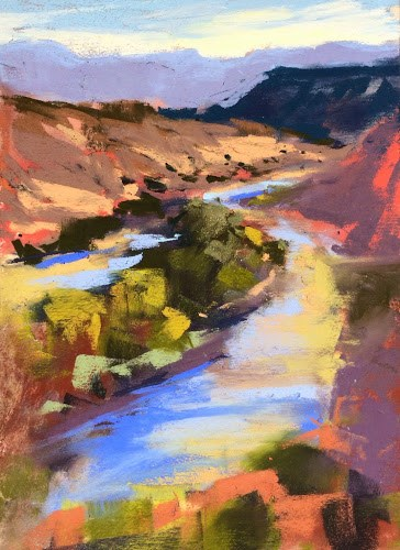 """Abiquiu Adventure....the workshop begins"" original fine art by Karen Margulis"