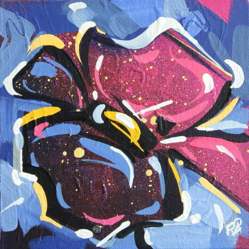 """""""Flower Abstraction 144"""" original fine art by Roger Akesson"""