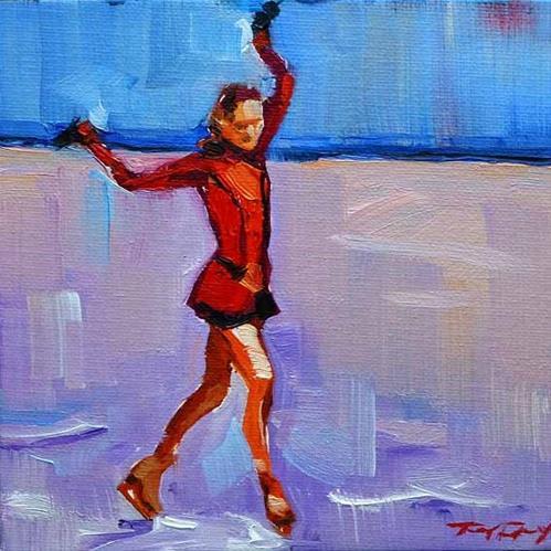 """""""olympischer Star"""" original fine art by Jurij Frey"""
