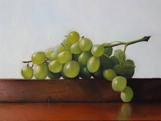 """""""Green Grapes"""" original fine art by Jonathan Aller"""