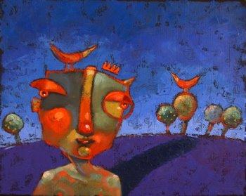"""Naked Jaybird"" original fine art by Brenda York"