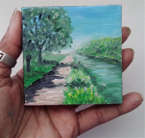 """""""Pathway by River"""" original fine art by Camille Morgan"""