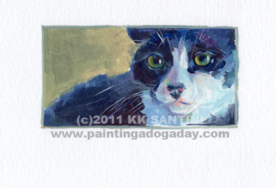 """Fiona, A Painted Sketch"" original fine art by Kimberly Santini"