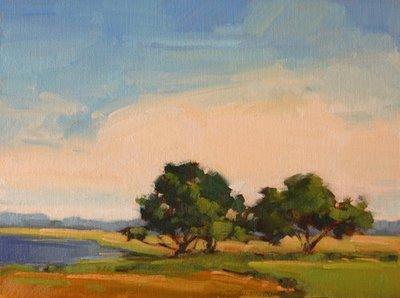 """Three Trees on the Frederica River"" original fine art by Laurel Daniel"