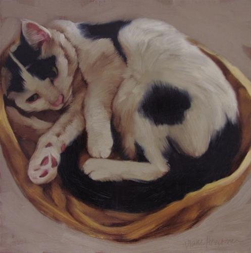 """Sleepy Spot II (and failed attempt at Sleepy Spot II)"" original fine art by Diane Hoeptner"