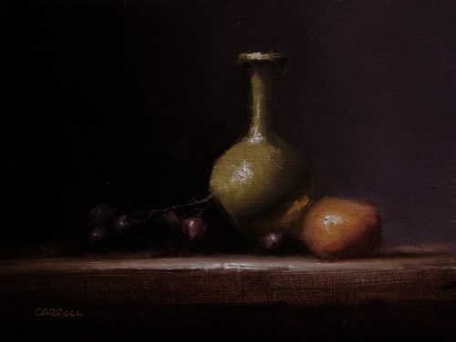 """Green Bud Vase"" original fine art by Neil Carroll"