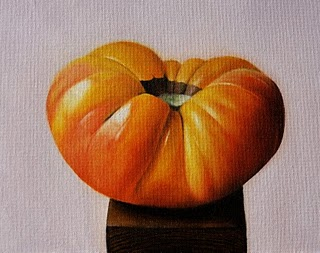"""Heirloom Tomato no.3"" original fine art by Jonathan Aller"