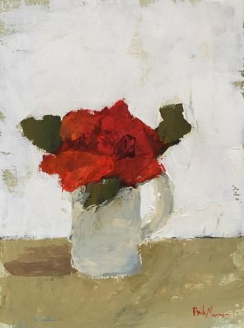 """""""Red Floral IV"""" original fine art by Pamela Munger"""