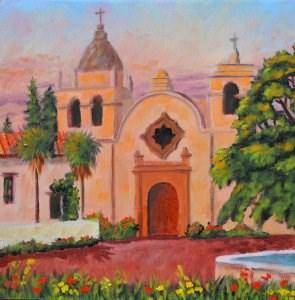 """Monterey Mission Revisited"" original fine art by Robert Frankis"