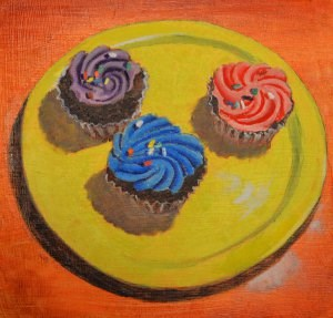 """Colorful Cakes"" original fine art by Robert Frankis"