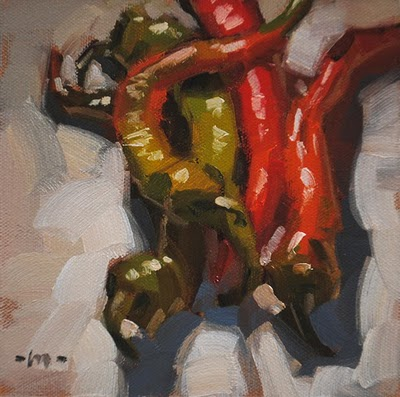 """Pepper Pals"" original fine art by Carol Marine"