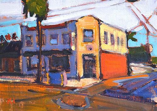 """Streetscape, OB"" original fine art by Kevin Inman"