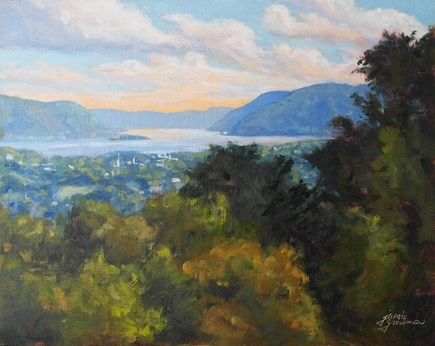 """View Above the Hudson"" original fine art by Jamie Williams Grossman"