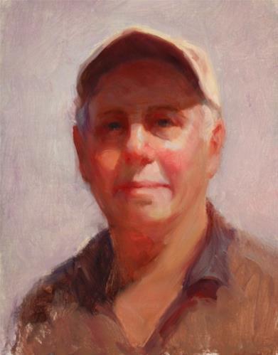 """Uncle Don"" original fine art by Carol Myer"