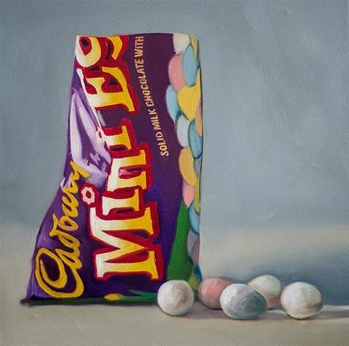 """""""Cadbury Mini Chocolate Eggs"""" original fine art by Lauren Pretorius"""