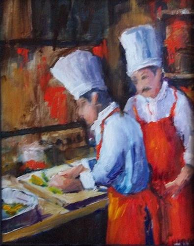 """""""Learning from the Master"""" original fine art by Alice Harpel"""