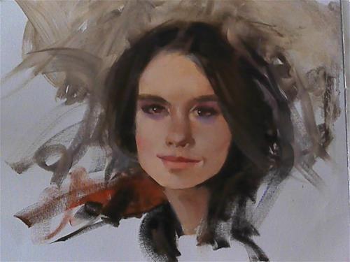 """head sketch"" original fine art by Richard Schiele"