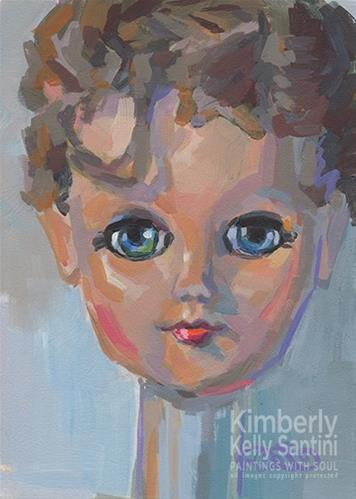 """Forthright"" original fine art by Kimberly Santini"