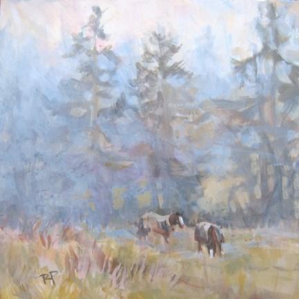 """WinterFog"" original fine art by Robin Peterson"