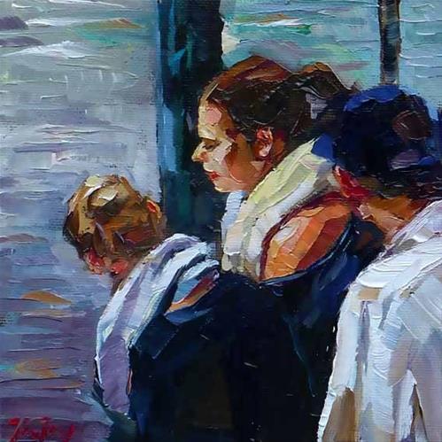 """at the lake"" original fine art by Jurij Frey"