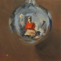"""""""SELFIE IN AN ORB"""" original fine art by Helen Cooper"""