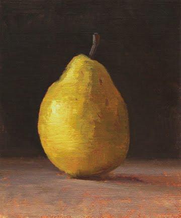 """Bosc Pear"" original fine art by Abbey Ryan"